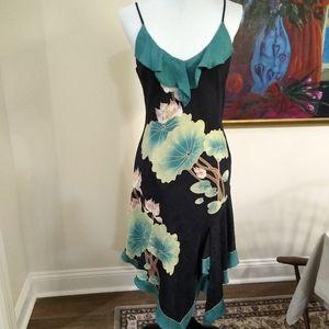 Sue Wang 100% silk dress, size 10